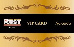 ゲームカフェ&バーRUST さま VIPカード